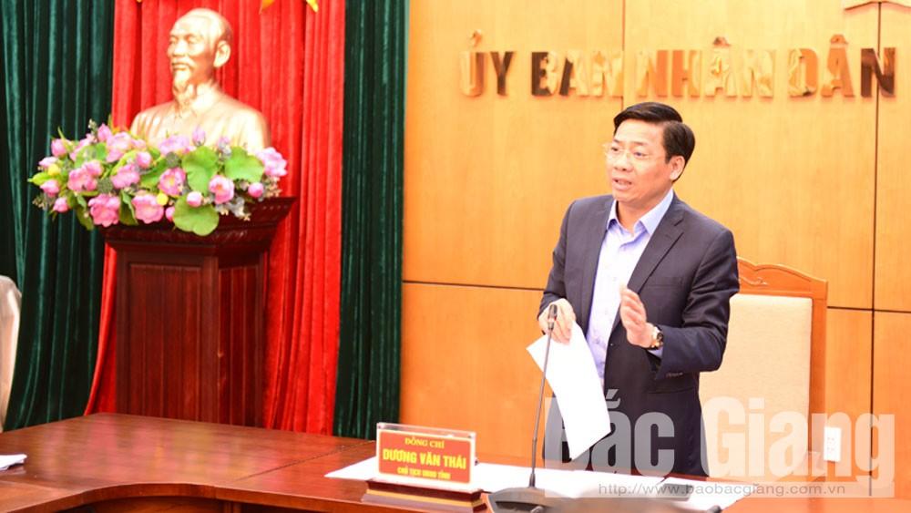 Chủ tịch UBND tỉnh Dương Văn Thái: Tập trung chỉ đạo phát triển KT- XH, bảo đảm mục tiêu tăng trưởng